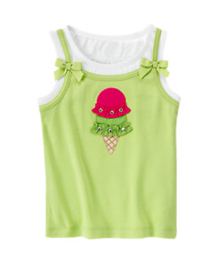 Lime Ice Cream Cone Tank Top by Gymboree