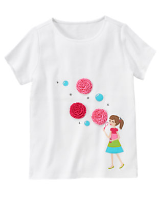 White Blowing Bubbles Tee by Gymboree