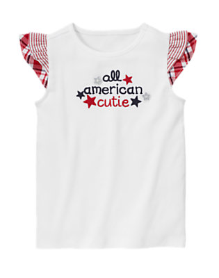 White All American Cutie Tee by Gymboree