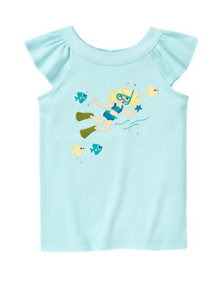 Dolphin Blue Snorkeling Girl Tank Top by Gymboree