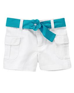 Belted Cargo Jean Short