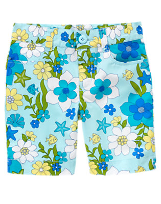 Girls Blue Sea Blossom Sea Blossom Short by Gymboree