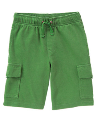 Summer Green Knit Active Cargo Short by Gymboree