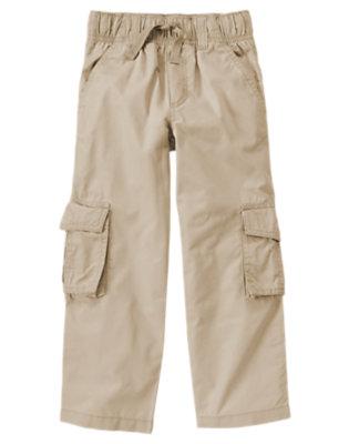 Khaki Pull-On Cargo Pant by Gymboree