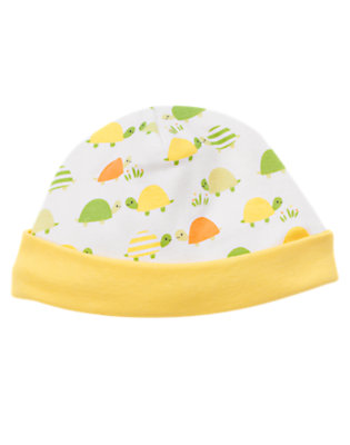 White Turtle Turtle Beanie by Gymboree