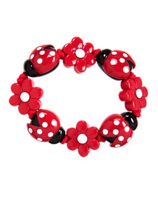Girls Ladybug Red Ladybug Flower Bracelet by Gymboree