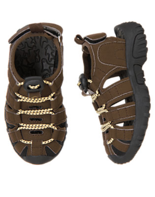 Chocolate Brown Trail Sandal by Gymboree