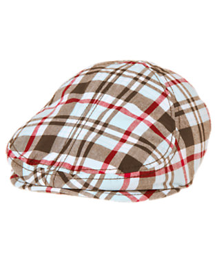 Chocolate Brown Plaid Plaid Cap by Gymboree