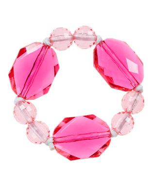 Girls Mermaid Pink Gem Bauble Bracelet by Gymboree