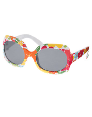 Girls Guava Pink Floral Floral Sunglasses by Gymboree