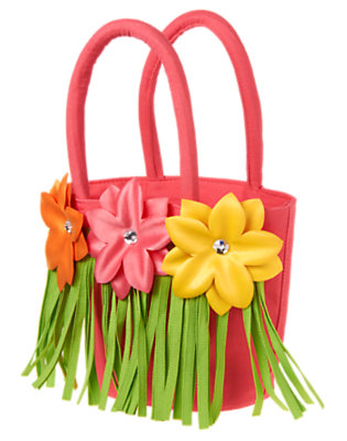 Girls Guava Pink Flower Hula Tote by Gymboree