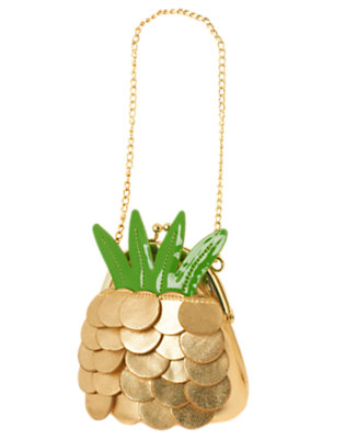Girls Gold Pineapple Purse by Gymboree