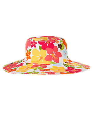 Girls Guava Pink Floral Floral Sunhat by Gymboree