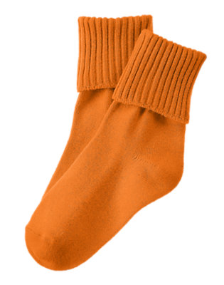 Toddler Boys Starfish Orange Foldover Sock by Gymboree