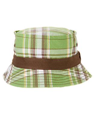 Toddler Boys Palm Green Plaid Plaid Bucket Hat by Gymboree