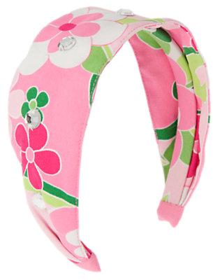 Girls Mermaid Pink Floral Gem Floral Headband by Gymboree