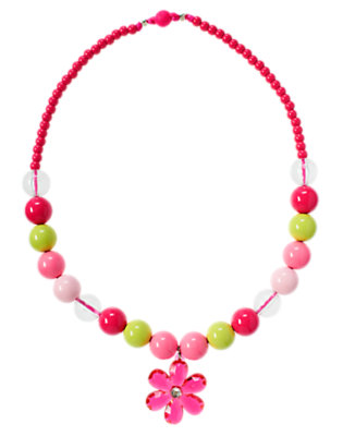 Mermaid Pink Gem Blossom Bauble Necklace by Gymboree