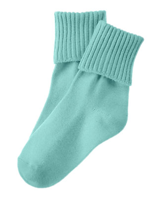 Boys Surf Blue Foldover Sock by Gymboree