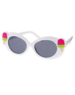 Girls White Ice Cream Cone Sunglasses by Gymboree