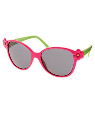 Toddler Girls Dahlia Pink Flower Sunglasses by Gymboree