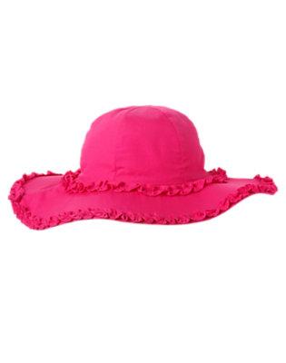 Girls Dahlia Pink Ruffle Sunhat by Gymboree