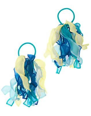 Scuba Blue Organza Pony Holder Two-Pack by Gymboree