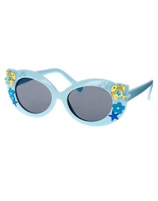 Girls Dolphin Blue Seashell Fish Sunglasses by Gymboree