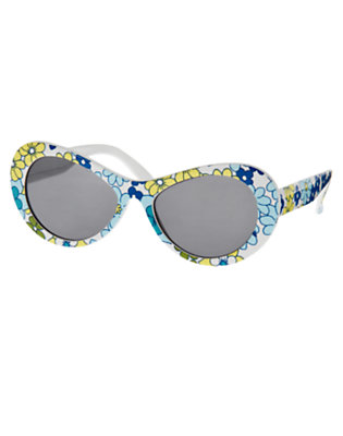 Girls White Blossom Mini Flower Sunglasses by Gymboree