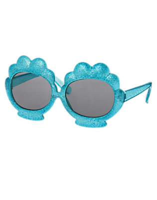 Girls Scuba Blue Shimmery Shell Sunglasses by Gymboree