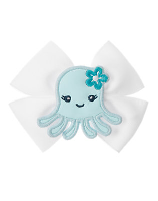 Toddler Girls White Octopus Hair Clip by Gymboree