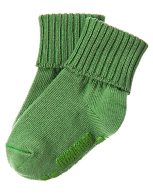 Toddler Boys Summer Green Foldover Sock by Gymboree