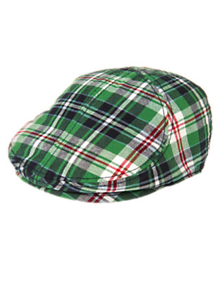 Boys Summer Green Plaid Plaid Hat by Gymboree