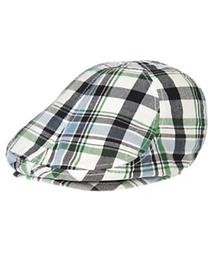 Toddler Boys Navy Plaid Plaid Hat by Gymboree