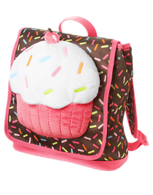 Brown Candy Sprinkles Cupcake Plush Backpack by Gymboree
