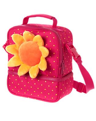 Raspberry Pink Dot Sunflower Lunchbox by Gymboree