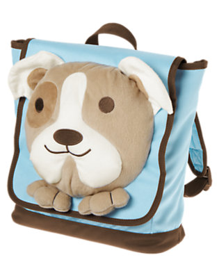 Bright Blue Plush Puppy Backpack by Gymboree