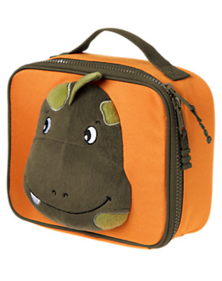 Bright Orange Plush Dino Lunchbox by Gymboree