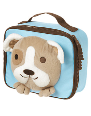 Bright Blue Plush Puppy Lunchbox by Gymboree