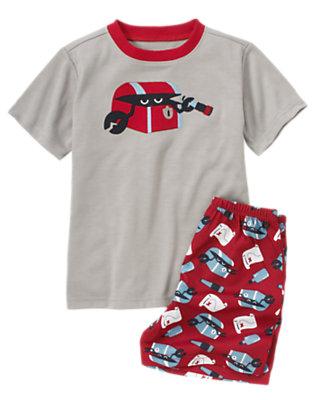 Grey Crab Treasure Chest Shortie Two-Piece Pajama Set by Gymboree