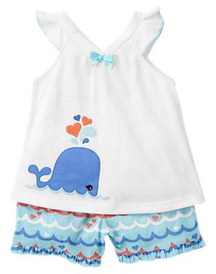 White Whale Shortie Two-Piece Pajama Set by Gymboree