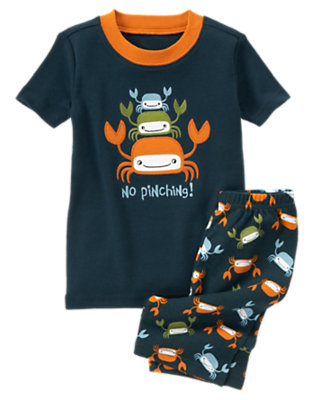 Navy No Pinching Shortie Two-Piece Gymmies® by Gymboree