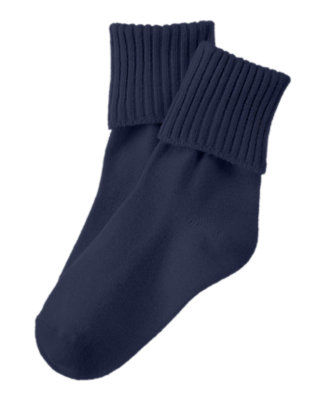Toddler Boys Navy Foldover Socks by Gymboree
