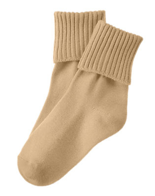 Boys Khaki Foldover Socks by Gymboree