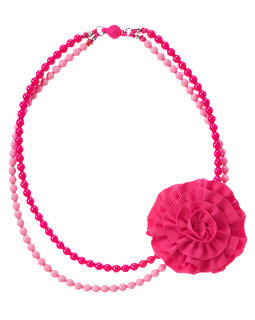 Ruffle Corsage Bead Necklace