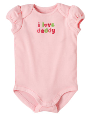 Pink I Love Daddy Bodysuit by Gymboree