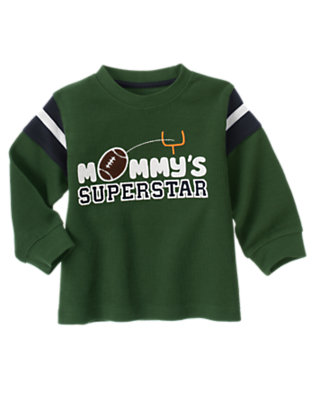 Forest Green Mommy's Superstar Flatback Tee by Gymboree