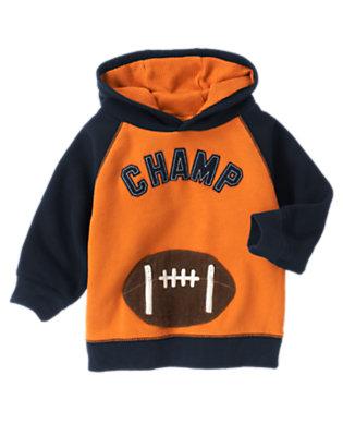 Pumpkin Orange Football Champ Hoodie by Gymboree