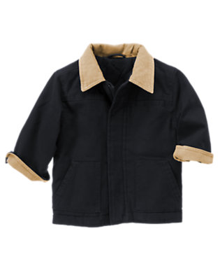 Gym Navy Twill Barn Jacket by Gymboree