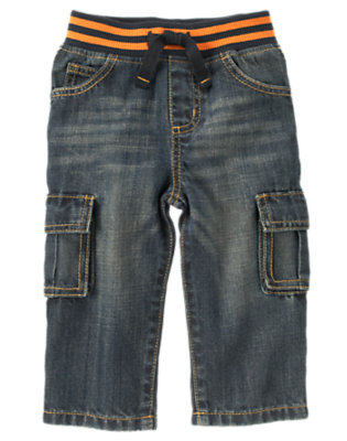 Denim Pull-On Cargo Jean by Gymboree