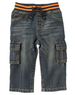 Denim Pull-On Cargo Jean by Gymboree